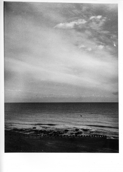 hastings beach in autumn photographed and printing using traditional photographic techniques