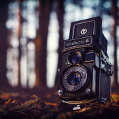 Yashica E TLR by Matt Harquail